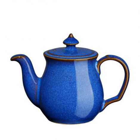 Denby Imperial Blue Teapot Salt Pot