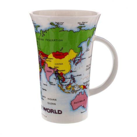Dunoon Fine Bone China Mug - Glencoe - Map of the World