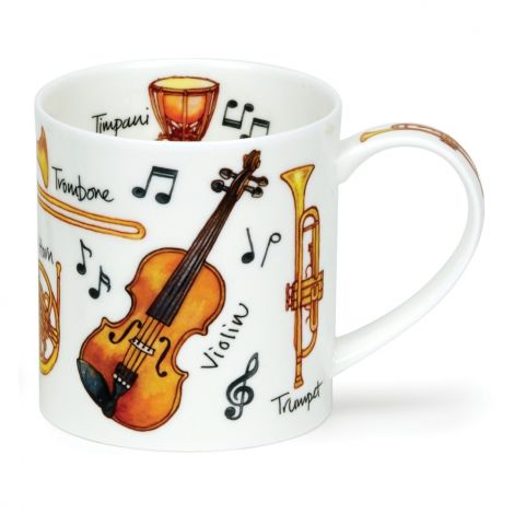 Dunoon Orkney Fine Bone China Mug - Music Instruments