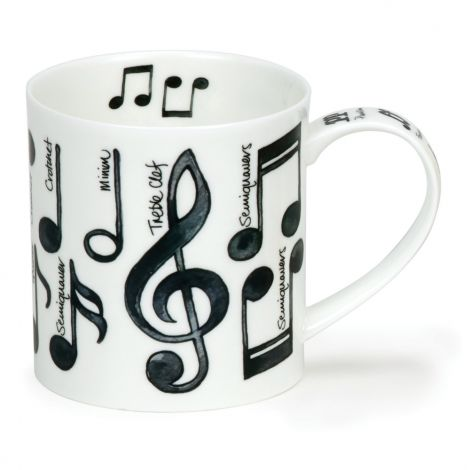 Dunoon Orkney Fine Bone China Mug - Music Notes
