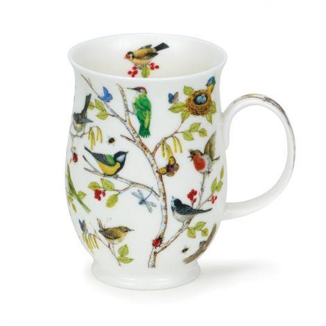 Dunoon Suffolk Fine Bone China Mugs - Secret Wood Woodpecker