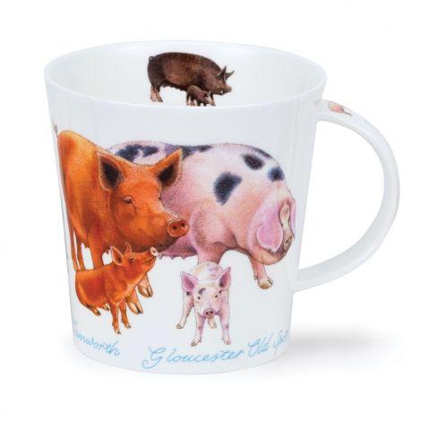 Dunoon Cairngorm Fine Bone China Mug - Farmyard Pigs