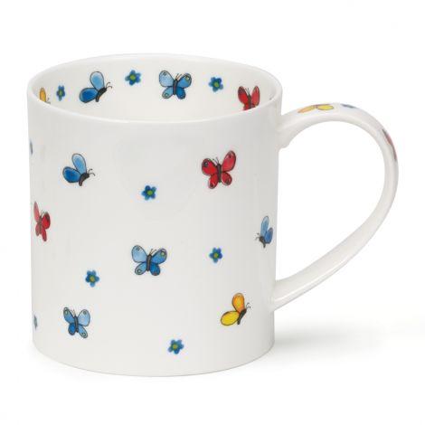 Dunoon Orkney Fine Bone China Mug Flutterby - Butterflies