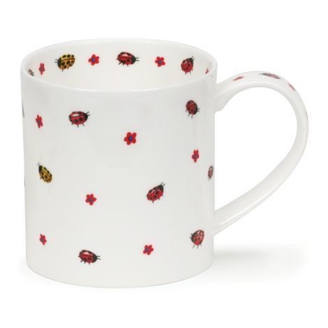 Dunoon Orkney Fine Bone China Mug Flutterby - Ladybugs