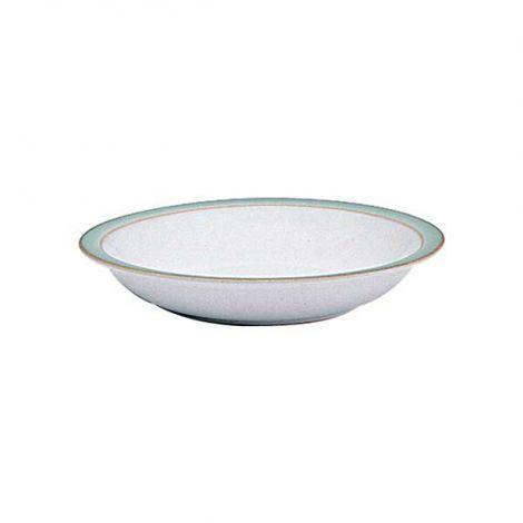 Denby Regency Green Shallow Rimmed Bowl