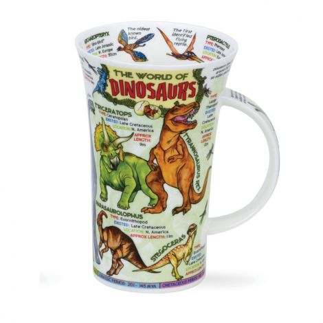 Dunoon Fine Bone China Glencoe Mug - World of Dinosaurs