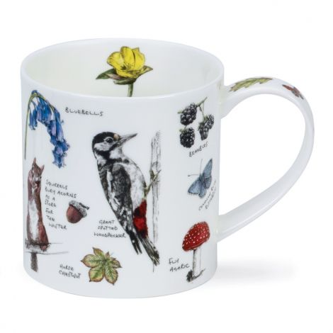 Dunoon Orkney Fine Bone China Mug - Country Notebook Wood