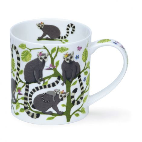 Dunoon Orkney Fine Bone China Mug - Hangout Lemur