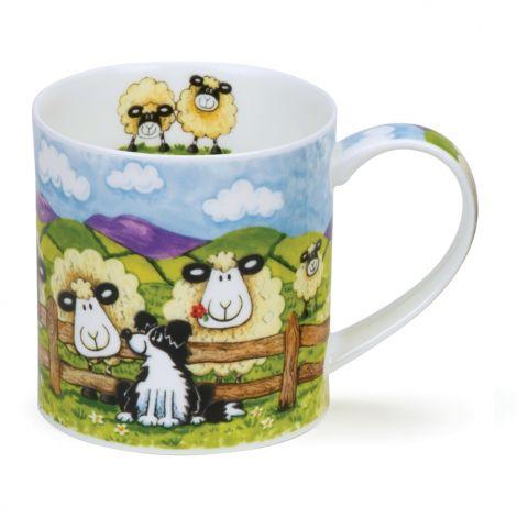 Dunoon Orkney Fine Bone China Mug - Silly Sheep Fence