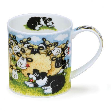 Dunoon Orkney Fine Bone China Mug - Silly Sheep Flock
