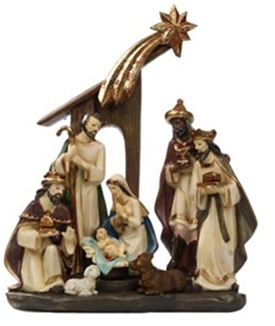 Jingle's Polyresin Christmas Polyreein Nativity Set 30cm