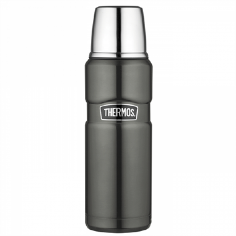 Thermos GTB Stainless Steel Flask 470ml Gun Metal