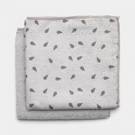 Brabantia Microfibre Dish Cloth Set of 2 - Light Grey