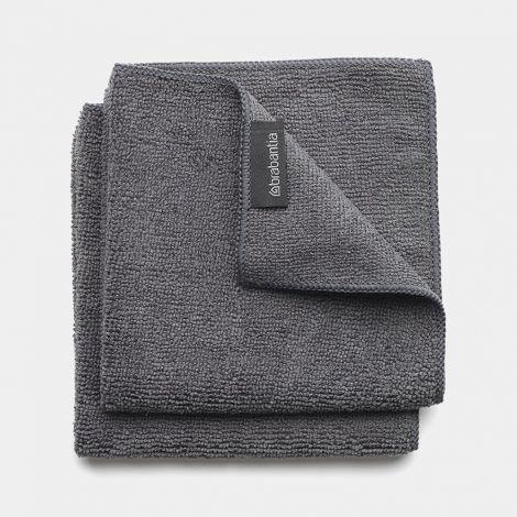Brabantia Microfibre Dish Cloth Set of 2 - Dark Grey
