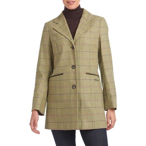 Barbour Ridley Tail Jacket - Green Pink Check