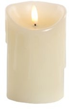 Jingles LED Dipping Wax Christmas Candle - Battery Operated 12.5cm