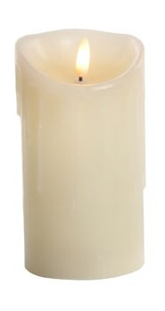 Jingles LED Dipping Wax Christmas Candle - Battery Operated 15cm