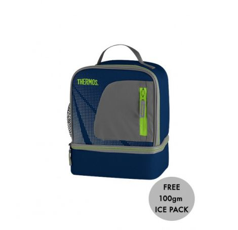 Thermos Radiance Dual Compartment Lunch Bag Blue