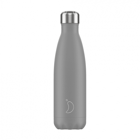 Chilly's Hot/Cold Water Bottle 500ml - Mono Grey