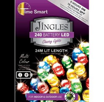 Jingles LED Battery Powered Christmas Lights - Multi Colour / 240L