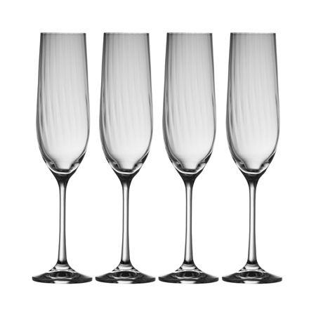 Belleek Galway Living Erne Champagne Flute X4