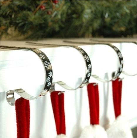Adams Haute Decor Original Christmas Stocking Mantel Clips
