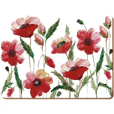 Creative Tops Poppy Pack Of 4 Large Premium Placemats
