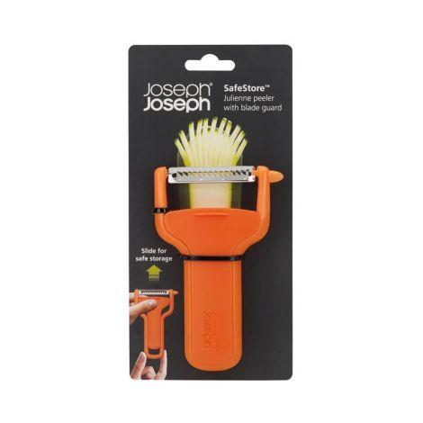 Joseph Joseph SafeStore Julienne Peeler with blade guard (orange)