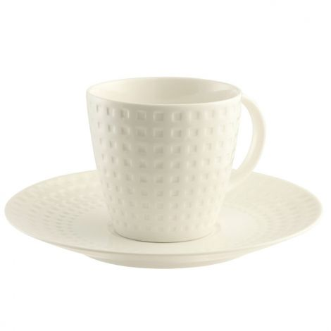 Belleek Living Grafton Teacups and Saucers Set of 4