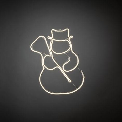 Konst Smide Christmas Silhouette Snowman LED Robelight