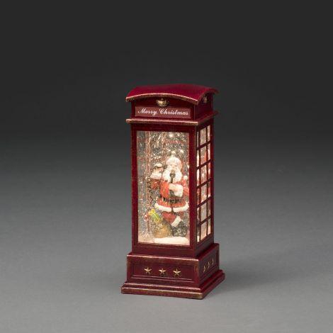 Konst Smide Christmas Water Lantern Telephone Box - Santa