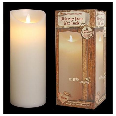 Enchante Flickering Flame Christmas Candle 23cm