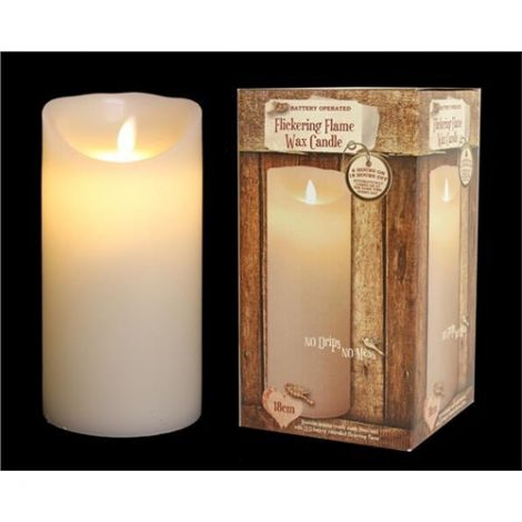 Enchante Flickering Flame Christmas Candle 18cm
