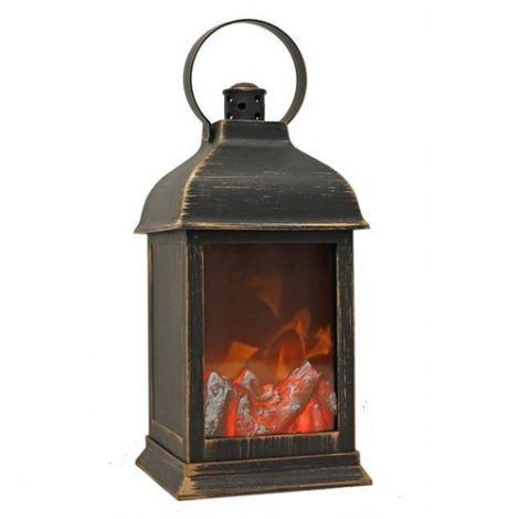 Enchante Burning Embers Christmas Lantern