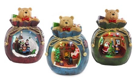 Jingles Battery Operated LED Christmas Toy Sack Decoration - Assorted