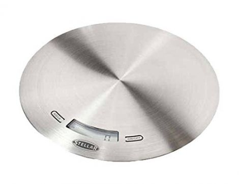 Stellar Slimline Digital Kitchen Scales - Silver / 5kg