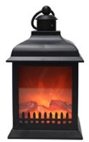 Jingles Battery Operated Christmas Fire Pit Lantern