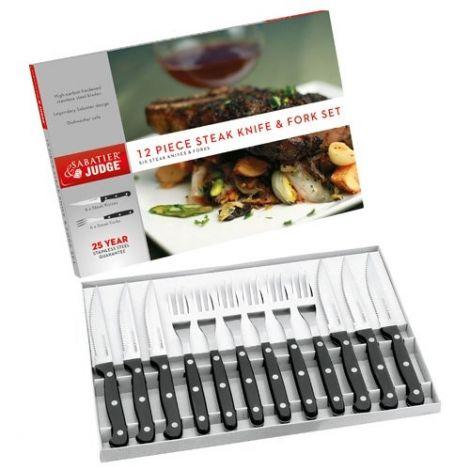 Judge Sabatoer 12 Piece Steak Knife & Fork Set