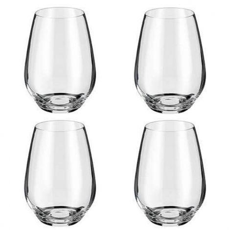 Judge Glassware - 4 Piece Stemless Winre Glass Set 540ml