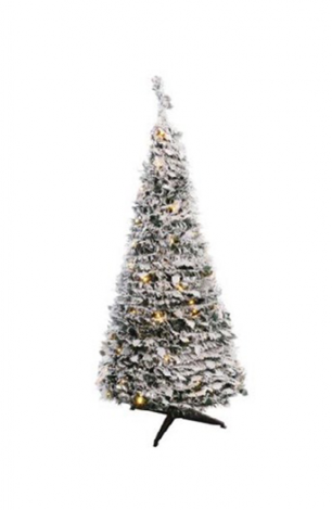 Jingles 5ft Pre Lit Frosted Pop Up Christmas Tree