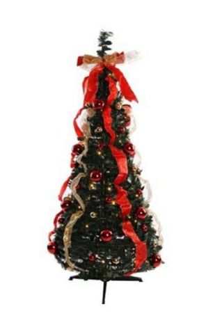 Jingles 6ft Pre Lit & Pre Decorated Pop Up Christmas Tree