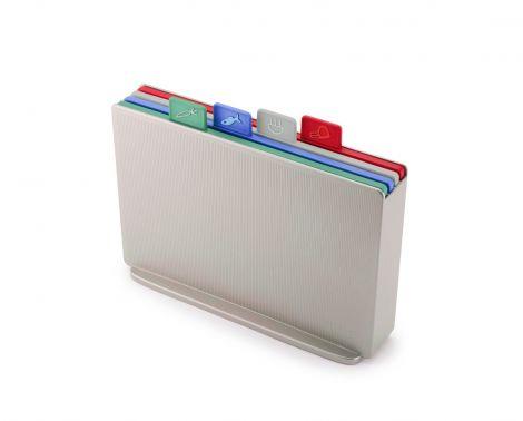 Joseph Joseph Index™ Chopping Board Set Regular Silver/Coast
