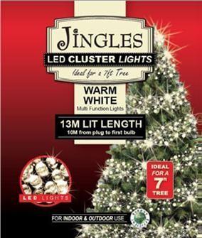 Jingles LED Cluster Lights for 8ft Christmas Tree - Warm White