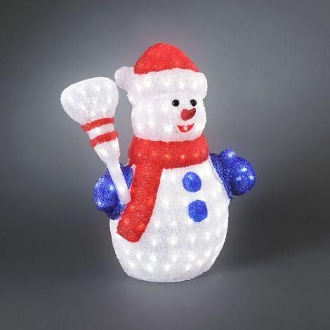 Konst Smide LED Acrylic Christmas Snowman 60cm