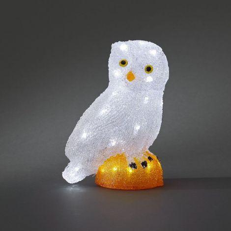 Konst Smide LED Acrlic Christmas Owl 27cm