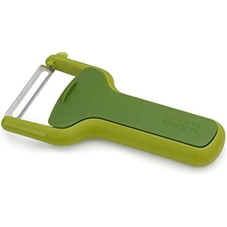 Joseph Joseph SafeStore Straight Peeler with blade guard (green)
