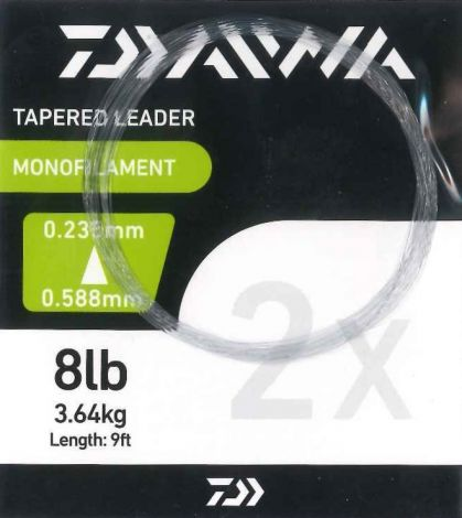 Daiwa 9ft Tapered Leaders 2x 8lb