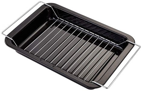 Judge Ovenware 39 x 25cm Grill Tray with Rack Enamel