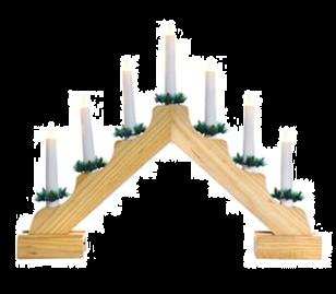 Jingles 7 Light Natural Christmas Candlebridge - Battery Operated
