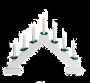 Jingles 7 Light Natural Christmas Candlebridge - White - Battery Operated